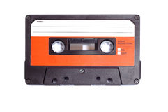 Cassette. Retro audio cassette isolated on white background Royalty Free Stock Photo