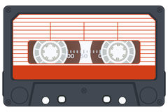 Cassette. Audio cassette on white background. Vector without gradients stock illustration