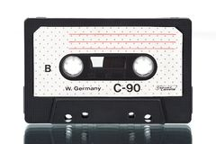 Cassette. Old-fashioned cheap audio compact cassette Royalty Free Stock Image