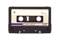 Cassette. Old-fashioned audio compact cassette - with clipping path Stock Photography
