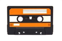 Cassette. Old audio cassette on white Stock Image