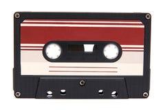 Cassette. Old audio cassette on white Stock Photos