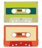 Cassette audio della spazzola Fotografia Stock