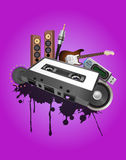 Cassette audio device Stock Images