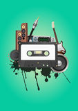 Cassette audio device Stock Photos
