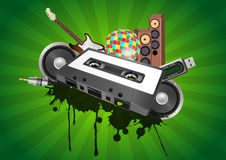 Cassette audio device Stock Photography