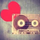 Cassette avec la forme de coeur Photos libres de droits