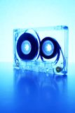 Cassette backlit by blue light II Royalty Free Stock Photography
