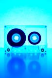 Cassette backlit by blue light Royalty Free Stock Photos