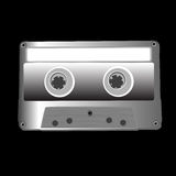 Cassette on black Royalty Free Stock Photography