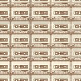Cassette brown pattern on light background Stock Photography