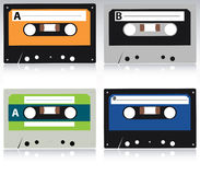 Cassette Collection. Vector collection of cassette illustrations Stock Photo