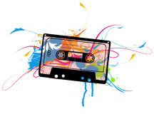 Cassette with colors Royalty Free Stock Images