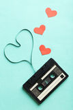 Cassette de bande audio Image libre de droits