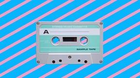 Cassette de bande audio de vintage R?tro fond images libres de droits
