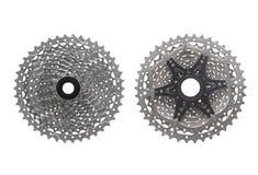 Cassette de vitesse du vélo de montagne 10 Images stock