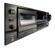 Cassette Deck. An old style 3-head cassette deck Royalty Free Stock Image