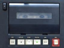 Cassette deck. Old audio cassette deck and his controls closeup stock image