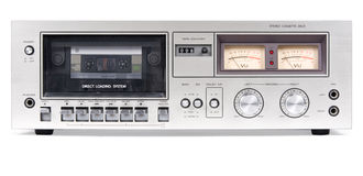 Cassette Deck Front. A photograph of a cassette player stock photography