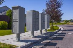 Cassette delle lettere in complesso condominiale nell'Utah Immagine Stock