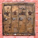 Cassette delle lettere d'ottone Immagini Stock Libere da Diritti