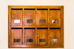 Cassette delle lettere di legno Immagine Stock