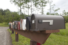 Cassette delle lettere rurali Fotografia Stock