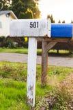 Cassette delle lettere in vicinanza suburbana Fotografia Stock