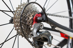 Cassette & derailleur Royalty Free Stock Photography
