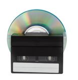 Cassette and disc Stock Photography