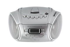 Cassette et lecteur de CD avec la radio photos libres de droits