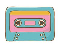 Cassette icon cartoon royalty free illustration