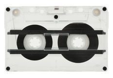 Cassette isolated. Cassette with tape isolated on white with clipping path Royalty Free Stock Image