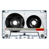 cassette isolated old white Στοκ Φωτογραφία