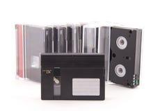 Cassette minidv. On a white background Stock Photos