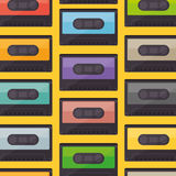 Cassette music old pattern Stock Photography