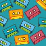Cassette music retro pop art pattern. Vector illustration design Royalty Free Stock Images