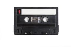 Cassette. Old retro cassette on a white background stock photo
