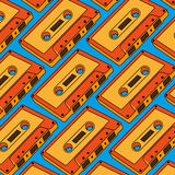 Cassette pattern cartoon  Royalty Free Stock Photo
