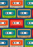 Cassette pattern cartoon  Royalty Free Stock Photography