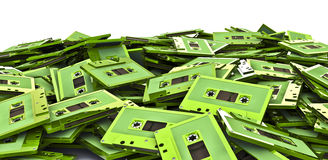 Cassette pile Royalty Free Stock Photo