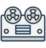 Cassette player, cassette recorder Isolated Vector Icon That can be easily edited in any size or modified. stock illustration