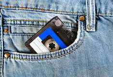 Cassette in the Pocket Royalty Free Stock Images