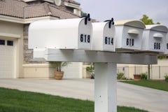 Cassette postali immagine stock
