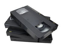 Cassette random-form pile Stock Images