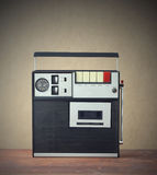 Cassette recorder. Old monophonic cassette recorder from the early 1970s Stock Image