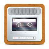 Cassette recorder square icon Royalty Free Stock Photos