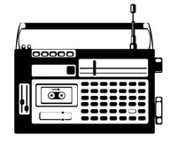 cassette recorder on white Stock Photo