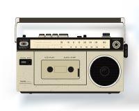 Cassette retro audio recorder. Music player. Realistic royalty free illustration