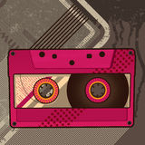 Cassette retro background Royalty Free Stock Photography